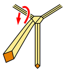 Pratt Knot step 3