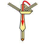 Pratt Knot step 6